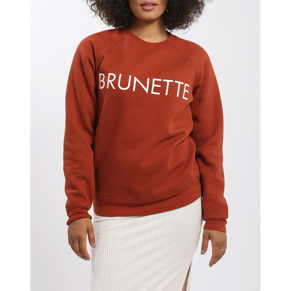 Brunette The Label Brunette Crew Womens Sweater