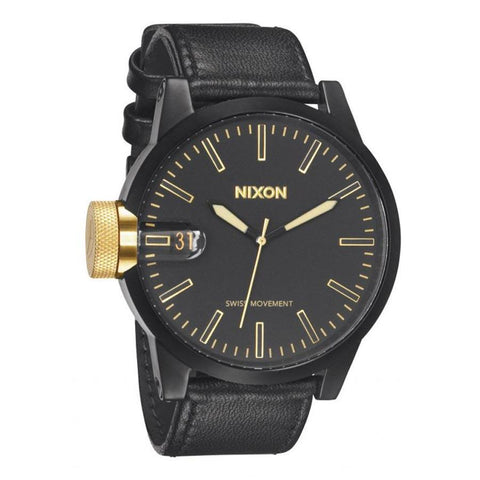 Nixon Chronicle Mens Leather Strap Watches