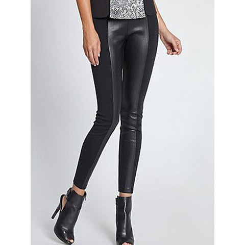 Guess Ponte Womens Faux Leather Leggings