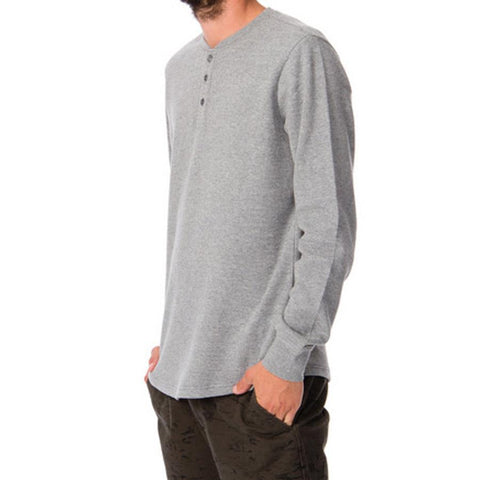 RVCA Docks Henley Mens LS Shirts