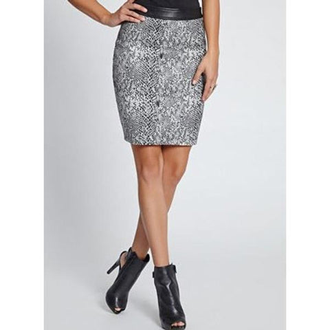 Guess Snake Jacquard Womens Pencil Skirt