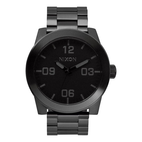 A346-001-00, All Black, Nixon, The Corporal SS, Mens Watches, Stainless Steel Band, Winter 2019