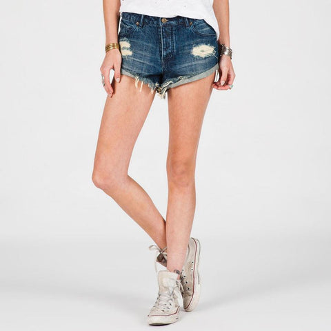 Volcom Stoned Womens Jean Shorts