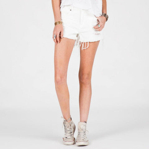 Volcom High And Waisted Womens Jean Shorts