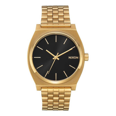 A045-2042-00, ALL GOLD / BLACK SUNRAY, Nixon Time Teller Watch, Unisex Metal band watch,