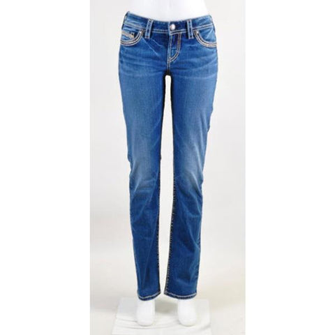 Silver Jeans Tuesday Womens Mid Straight Flare Jeans