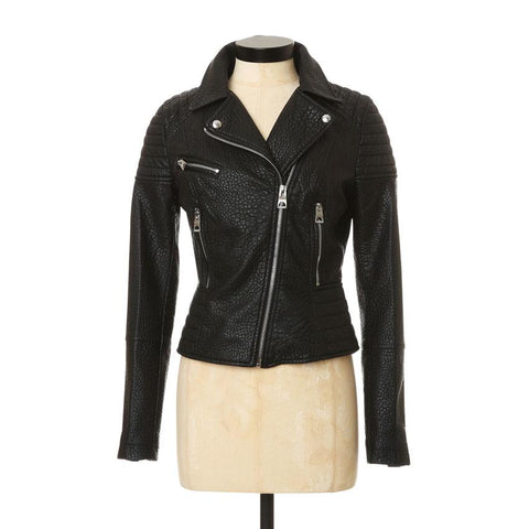 Guess LS Bubble PU Moto Womens Casual Jackets