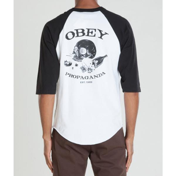 OBEY BROKEN BOTTLES & BROKEN HEARTS IN MENS CLOTHING L/S T-SHIRTS - MENS T-SHIRTS LONG SLEEVE - T-SHIRTS