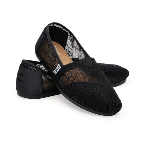 Toms Seasonal Classic Womens Slip On Lace Shoes