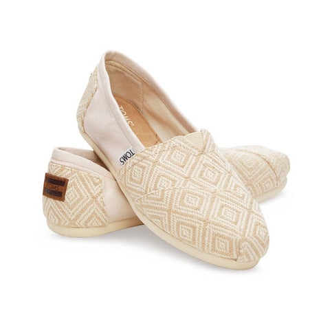 Toms Seasonal Classic Diamond Womens Slip On Woven Shoes