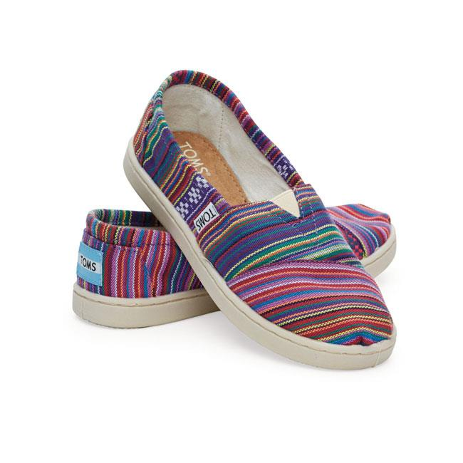 TOMS CLASSIC WOVEN GIRLS IN SHOES YOUTH GIRLS SLIP ON SHOES - KIDS SLIP ON SHOES - KIDS SHOES