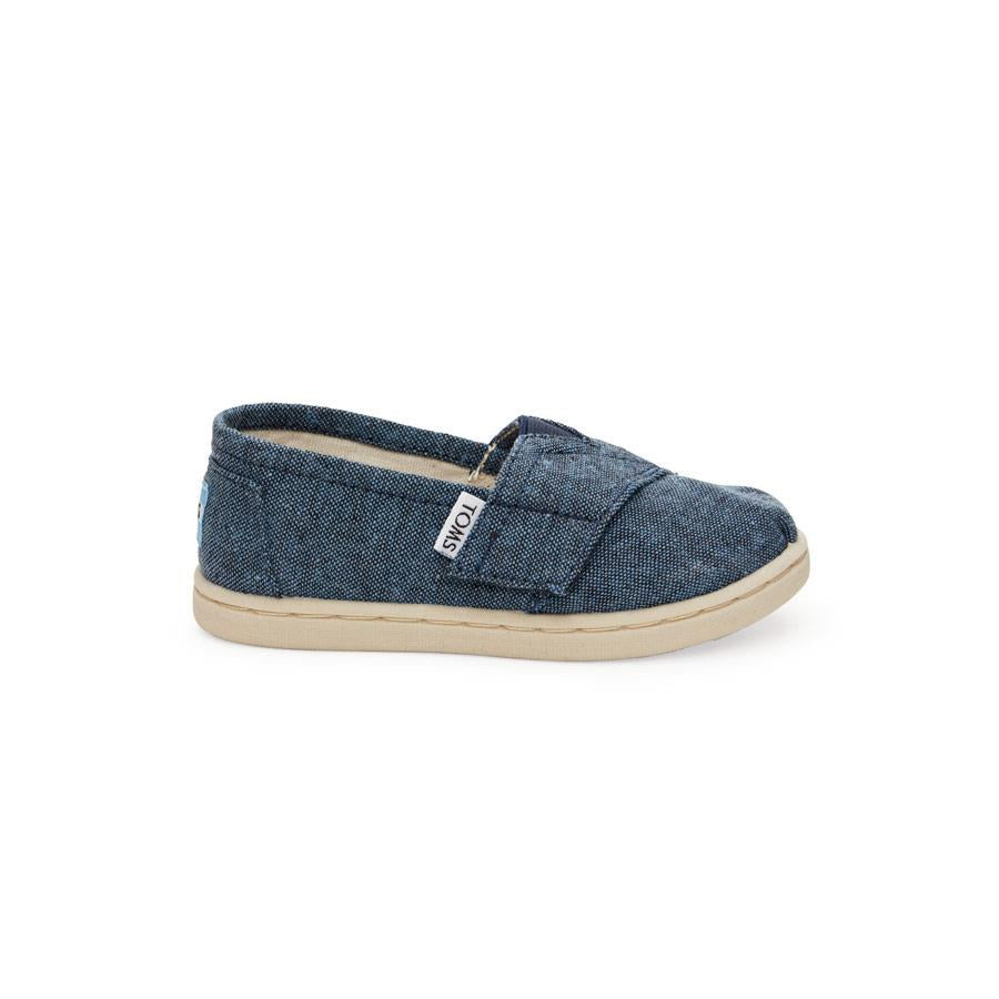 TOMS CLASSIC CHAMBRAY TODDLER IN SHOES TODDLER GIRLS  SLIP ON SHOES - TODDLER SHOES - KIDS SHOES