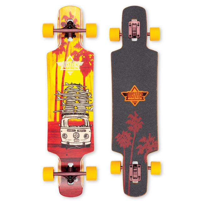 DUSTER QUIVER LONGBOARD COMPLETE IN LONGBOARD COMPLETES - DROP THROUGH TRUCKS LONGBOARDS - LONGBOARD COMPLETES