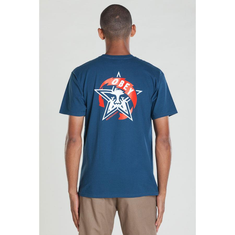 OBEY AROUND THE WORLD STAR IN MENS CLOTHING S/S T-SHIRTS - MENS T-SHIRTS SHORT SLEEVE - T-SHIRTS