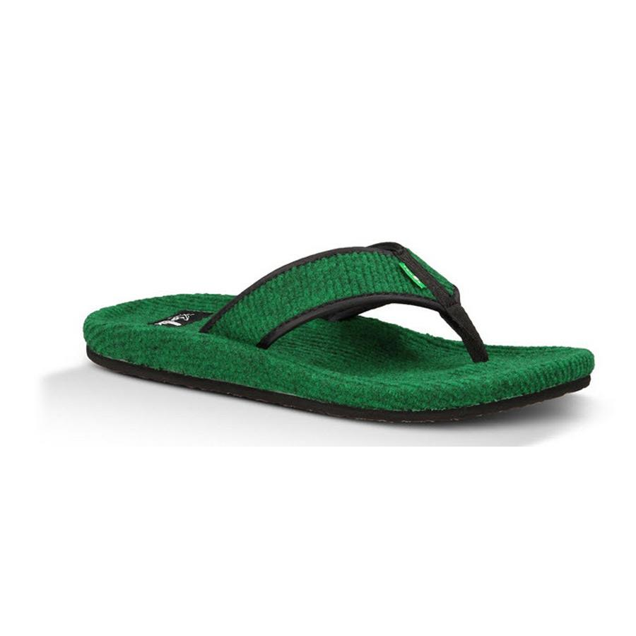 SANUK FUR REAL CLASSIC IN SANDALS MEN - MENS FLIP FLOPS - MENS SANDALS