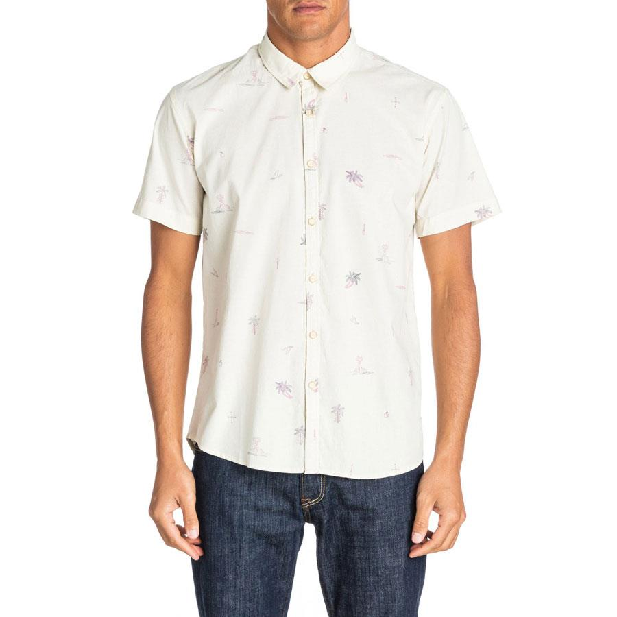 QUIKSILVER STRANDED SHIRT SHORT SLEEVE IN MENS CLOTHING S/S WOVEN SHIRTS - MENS BUTTON UP SHORT SLEEVE SHIRTS