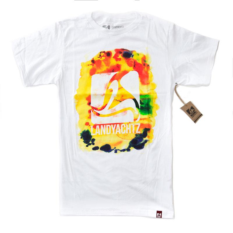 LANDYACHTZ WATERCOLOR LOGO TEE IN MENS CLOTHING S/S T-SHIRTS - MENS T-SHIRTS SHORT SLEEVE - T-SHIRTS