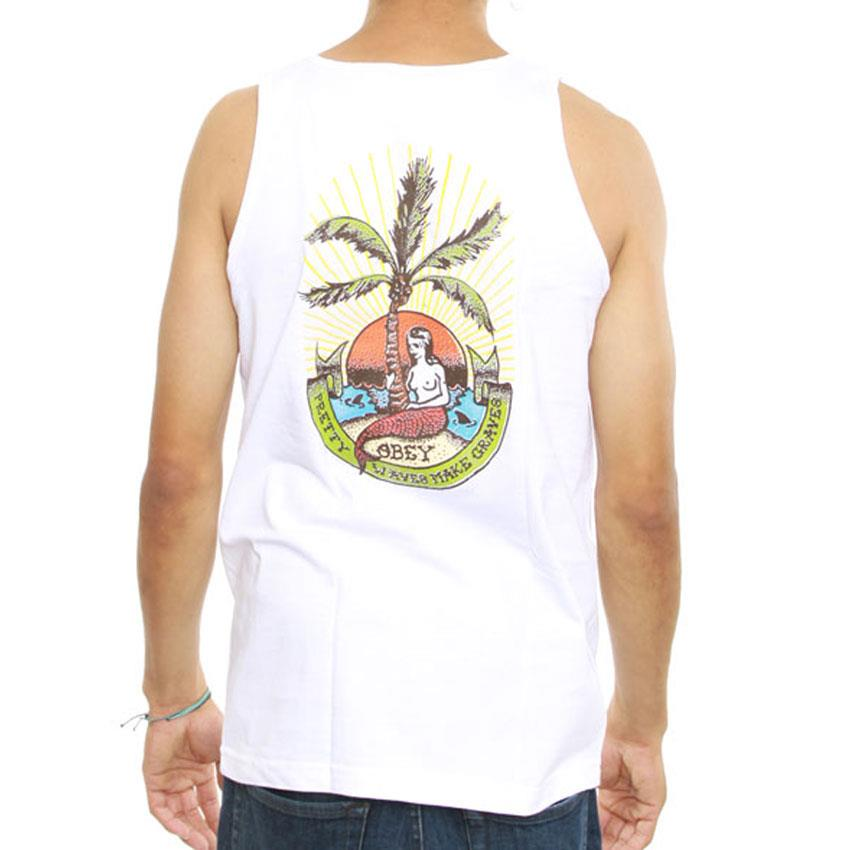 OBEY PRETTY WAVES MAKE GRAVES IN MENS CLOTHING TANK TOPS - MENS TANK TOPS  AND JERSEYS - T-SHIRTS