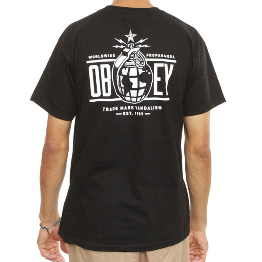 OBEY OBEY ANNEXATION IN MENS CLOTHING S/S T-SHIRTS - MENS T-SHIRTS SHORT SLEEVE - T-SHIRTS