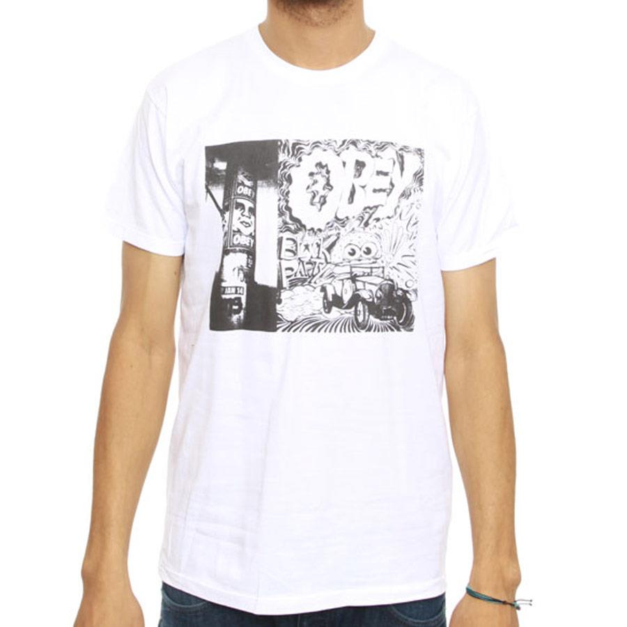 OBEY BLOCK PARTY TEE IN MENS CLOTHING S/S T-SHIRTS - MENS T-SHIRTS SHORT SLEEVE - T-SHIRTS