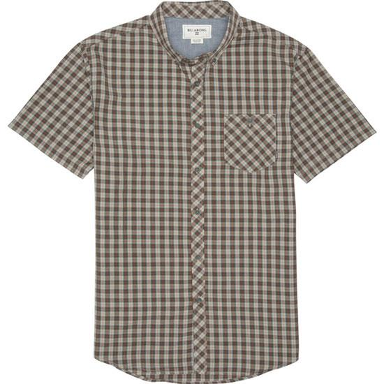 BILLABONG ROCKWELL SHORT SLEEVE IN MENS CLOTHING S/S WOVEN - MENS BUTTON UP SHORT SLEEVE SHIRTS