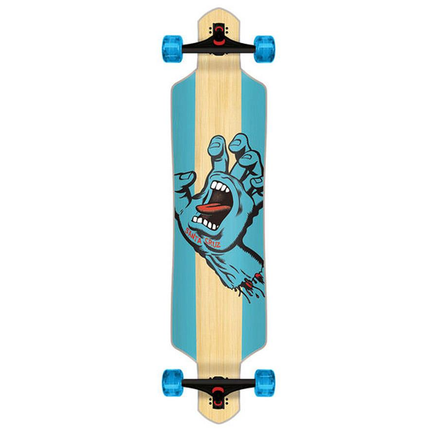 SANTA CRUZ STAINED HAND BAMBOO COMPLETE IN LONGBOARD COMPLETES - DROP THROUGH TRUCKS LONGBOARDS - LONGBOARDS