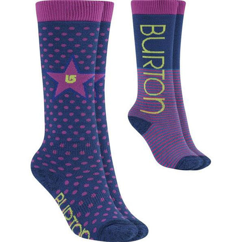 Burton Girls Weekend 2 Pack Mid Weight Kids Socks