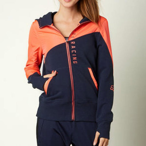 FOX CONSERVE ZIP HOODIE IN WOMENS CLOTHING HOODIES - WOMENS ZIP UP HOODIES - SWEATSHIRTS