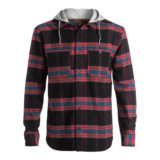 DC HOOD UP LONG SLEEVE IN MENS CLOTHING L/S WOVEN - MENS FLANNEL SHIRTS - MENS SHIRTS