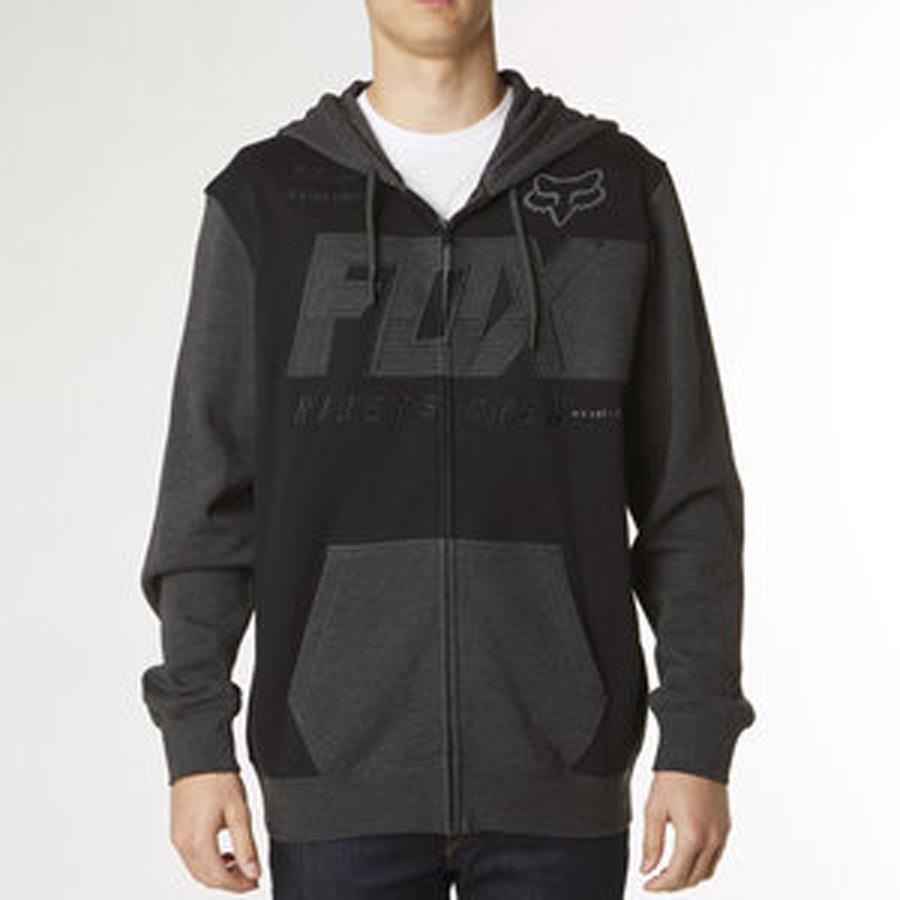 FOX CLUTCH ZIP IN MENS CLOTHING HOODIES - MENS FULL ZIP HOODIE - MENS SWEATSHIRTS