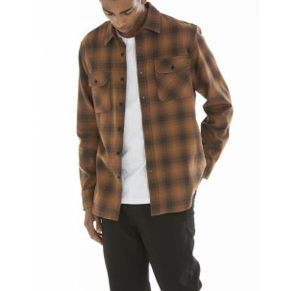 OBEY HUDDLE WOVEN IN MENS CLOTHING L/S WOVEN SHIRTS - MENS BUTTON UP LONG SLEEVE SHIRTS