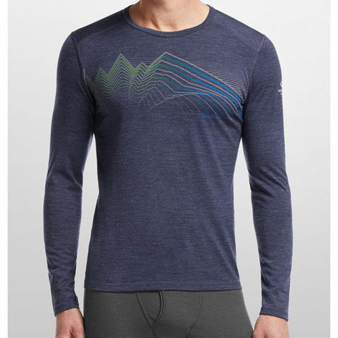 Icebreaker Oasis Crewe Equalizer Mens LS Layer Tops