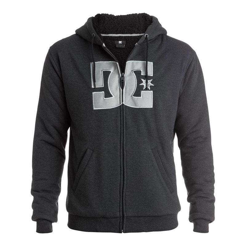 DC REBEL STAR SHERPA IN MENS CLOTHING HOODIES - MENS FULL ZIP HOODIES - MENS SWEATSHIRTS