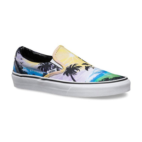 Vans Classic Womens Slip On Shoes Dolphin Beach