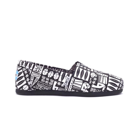 Toms Seasonal Classic Canvas Tiki Womens Slip On Shoes