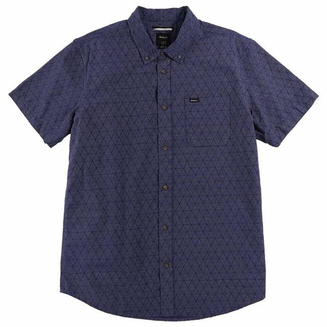 RVCA THAT'LL DO CONES SHORT SLEEVE IN MENS CLOTHING S/S WOVEN SHIRTS - MENS BUTTON UP SHORT SLEEVE SHIRTS