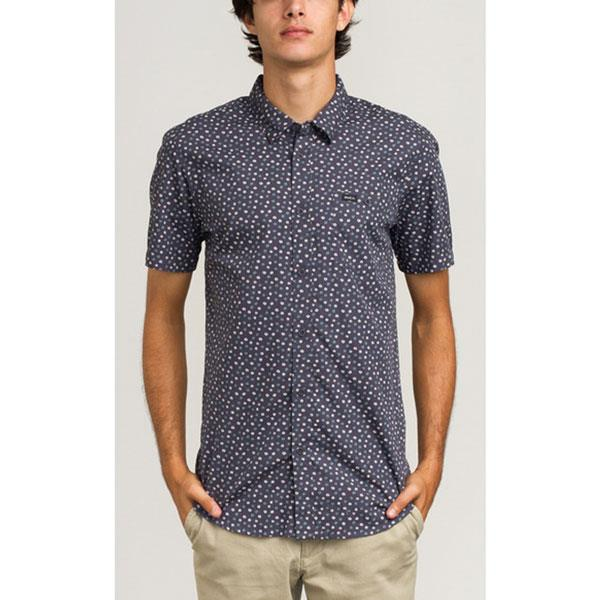 RVCA BRUSH BLOCK SHIRT IN MENS CLOTHING S/S WOVEN SHIRTS - MENS BUTTON UP SHORT SLEEVE SHIRTS
