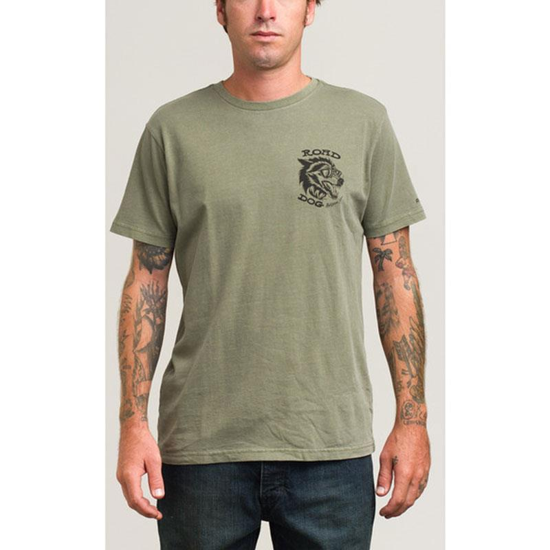 RVCA ROAD DOG T-SHIRT IN MENS CLOTHING S/S T-SHIRTS - MENS T-SHIRTS SHORT SLEEVE - T-SHIRTS