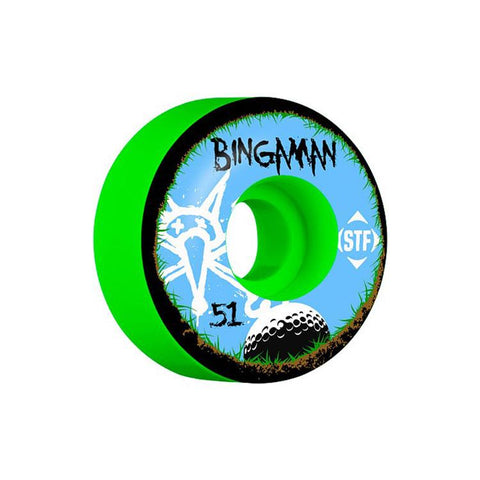 BONES BINGAMAN BOGEY 103A WHEELS IN SKATEBOARD WHEELS - SKATE WHEELS