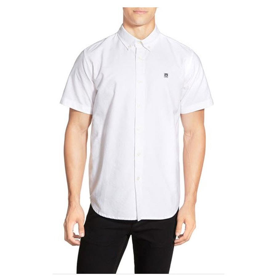 OBEY EIGHTY NINE POPLIN WOVEN SHORT SLEEVE IN MENS CLOTHING WOVEN S/S - MENS BUTTON UP SHORT SLEEVE SHIRTS - SHIRTS