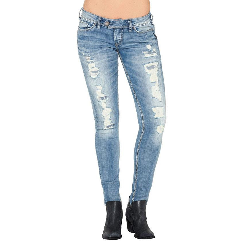 SILVER JEANS TUESDAY LOW SKINNY IN WOMENS CLOTHING JEANS - WOMENS SKINNY JEANS - PANTS AND JEANS