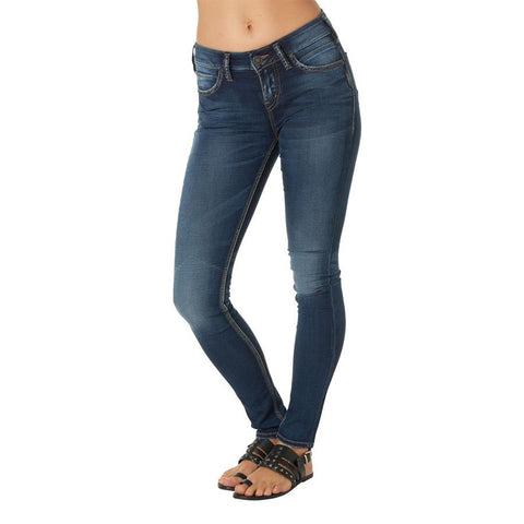 Silver Jeans Aiko Womens High Skinny Jeans