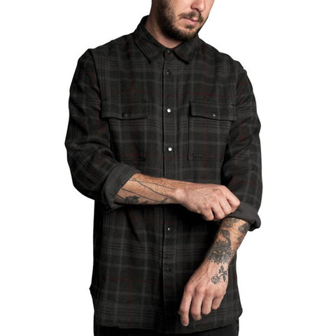 KR3W CREEP LONG SLEEVE WOVEN IN MENS CLOTHING L/S WOVEN - MENS BUTTON UP LONG SLEEVE SHIRTS