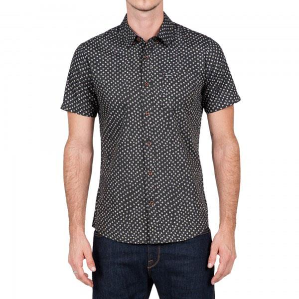 VOLCOM GOODWIN SHORT SLEEVE IN MENS CLOTHING S/S WOVEN SHIRTS - MENS BUTTON UP SHORT SLEEVE SHIRTS
