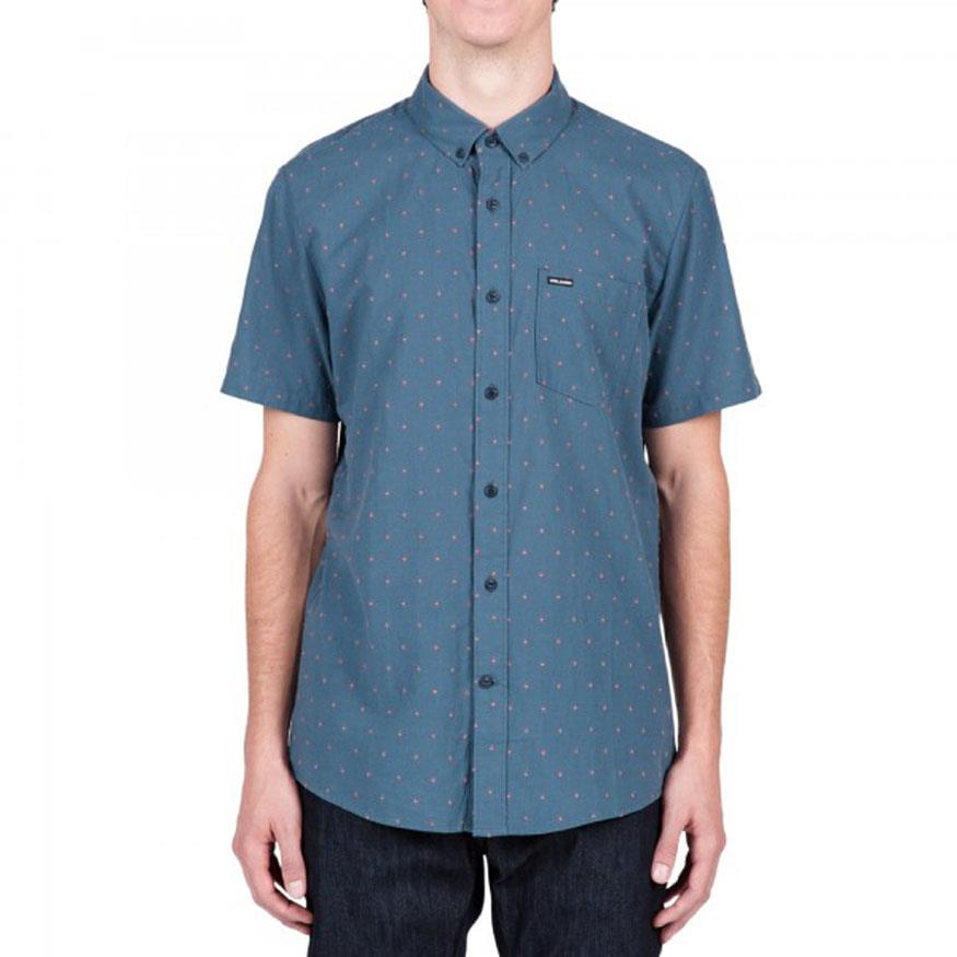 VOLCOM ZELLER SHORT SLEEVE IN MENS CLOTHING S/S WOVEN SHIRTS - MENS BUTTON UP SHORT SLEEVE SHIRTS