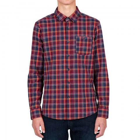 VOLCOM ANTIHERO LONG SLEEVE FLANNEL IN MENS CLOTHING LS WOVEN - MENS BUTTON UP LONG SLEEVE SHIRTS - SHIRTS