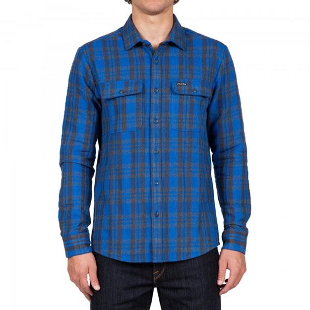 VOLCOM COPELAND LONG SLEEVE IN MENS CLOTHING L/S WOVEN SHIRTS - MENS BUTTON UP LONG SLEEVE SHIRTS - SHIRTS