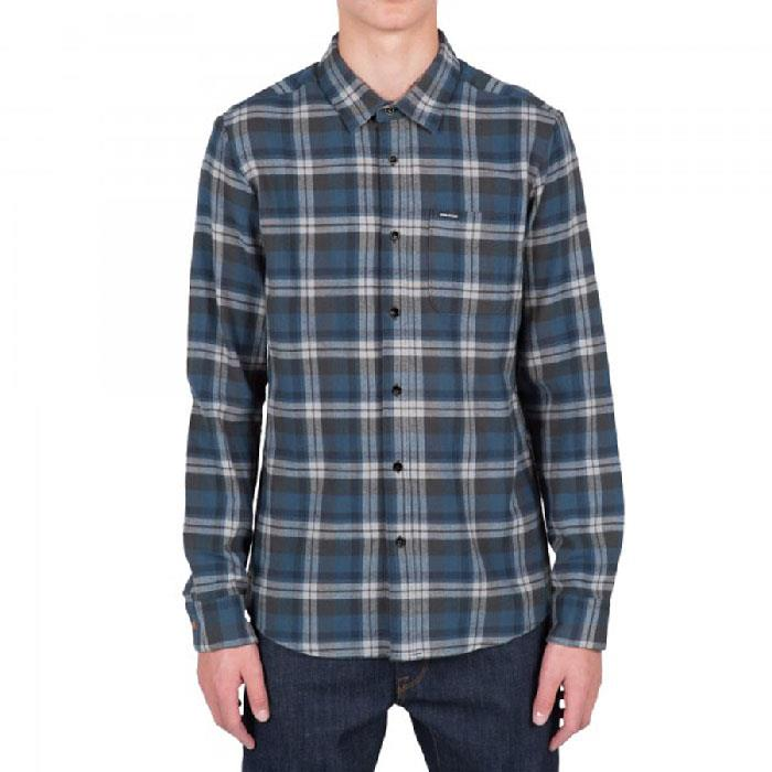 VOLCOM HEWITT LONG SLEEVE FLANNEL IN MENS CLOTHING L/S WOVEN SHIRTS - MENS BUTTON UP LONG SLEEVE SHIRTS - MENS FLANNEL SHIRTS - SHIRTS