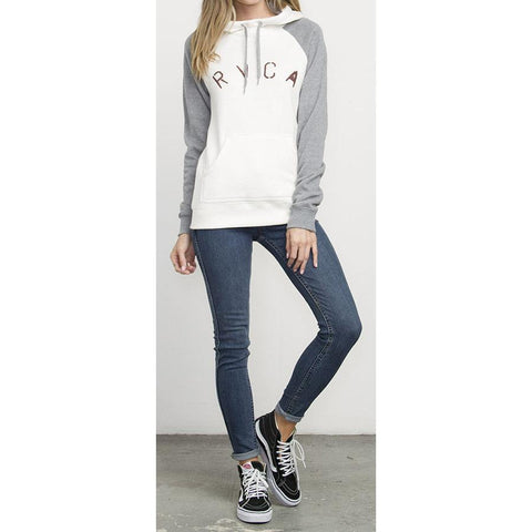 RVCA Arch Stencil Womens Pullover Hoodies