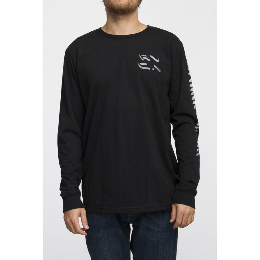 RVCA SHADOW LONG SLEEVE T-SHIRT IN MENS CLOTHING L/S T-SHIRTS - MENS T-SHIRTS LONG SLEEVE - T-SHIRTS